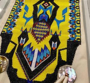 Detail of Bead Work on Pipe Bag - - Courtesy Pokagon Band of Potawatomi